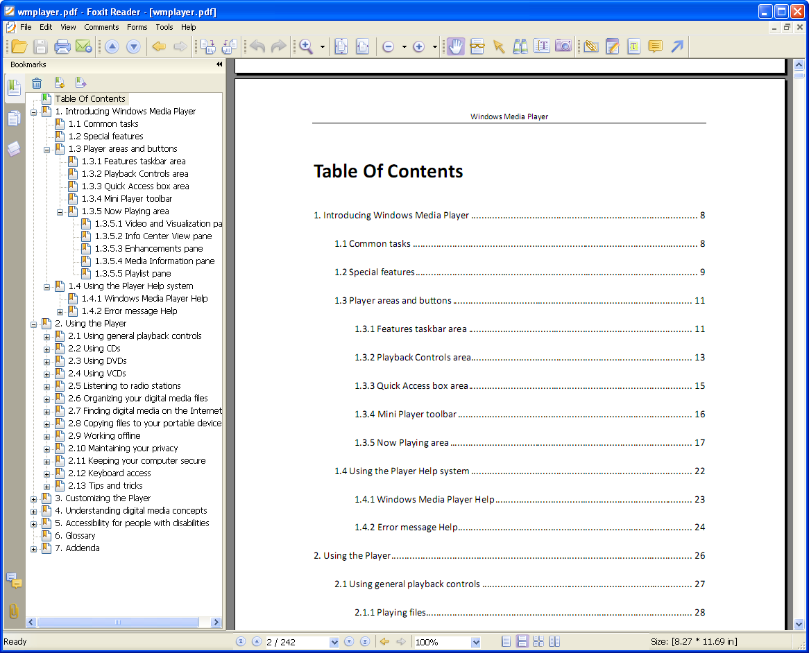 Softany chm to pdf converter convert chm html help for Table of contents